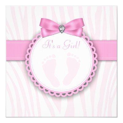 Elegant Pink Zebra Pink Footprint