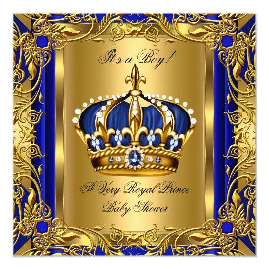 Elegant prince royal blue baby shower boy gold invitations baby elegant prince royal blue baby shower boy gold invitations filmwisefo
