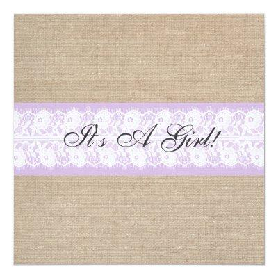 Elegant Purple Burlap Lace