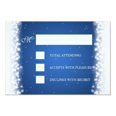 Elegant RSVP Magic Sparkle Blue Invitations