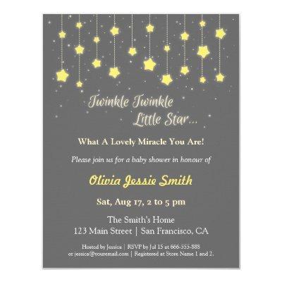 Elegant Twinkle Twinkle Little Star Invitations