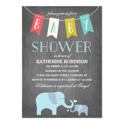 Elephant Baby | Baby Shower Invitations