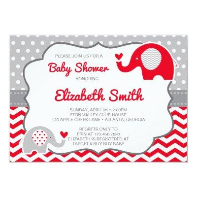 Elephant , EDITABLE COLOR Invitations