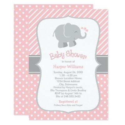 Elephant  | Blush Pink Gray
