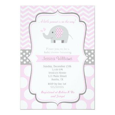 Elephant Invitations for Girl