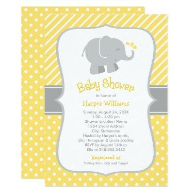 Elephant  | Yellow and Gray
