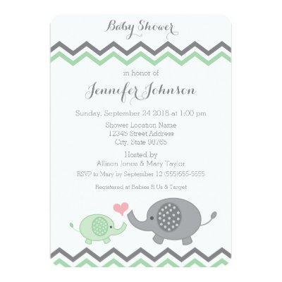 girl baby boy baby shower baby shower invitations | baby shower, Baby shower invitations