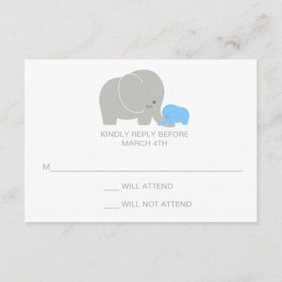 Invitation response baby shower invitations baby shower invitations elephant baby shower rsvp response invitations filmwisefo