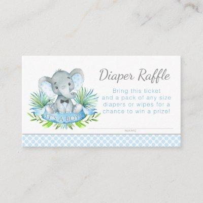 Elephant Diaper Raffle Tickets Enclosure Invitations