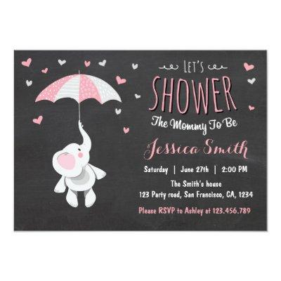 Elephant Little Peanut Baby Shower Invitations