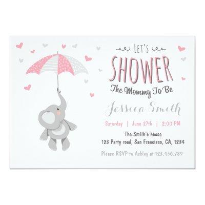 Elephant Little Peanut Invitations
