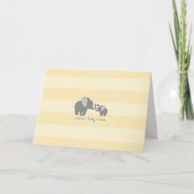 Elephant Mom & Baby Shower Invitation
