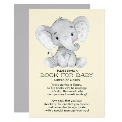 Elephant Neutral Baby Shower Book for Baby Invitations