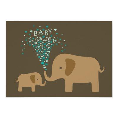 Elephant Shower of Love Invitation