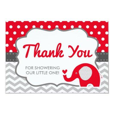 Elephant Thank You Invitations, EDITABLE COLOR Invitations