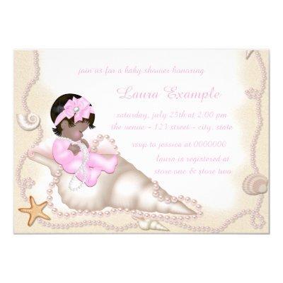 ethnic baby girl beach invitations
