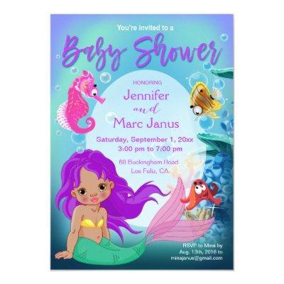 Ethnic Baby Mermaid Underwater Fantasy