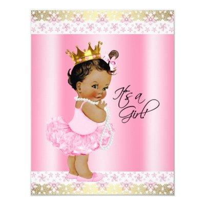 pink tutu ethnic baby shower baby shower invitations | baby shower, Baby shower invitations