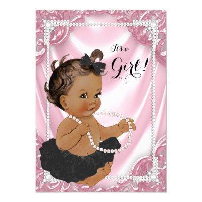 Ethnic Girl Pink Pearl Black Tutu