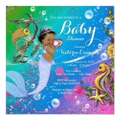 Ethnic Mermaid Under the Sea