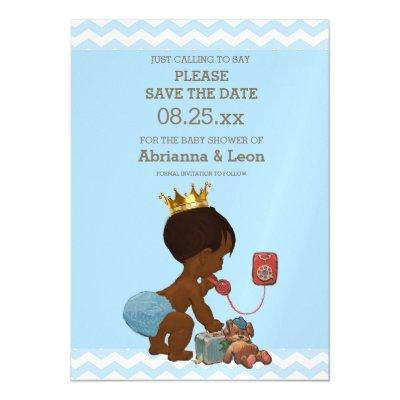 African American Save The Date Baby Shower Invitations Baby Shower