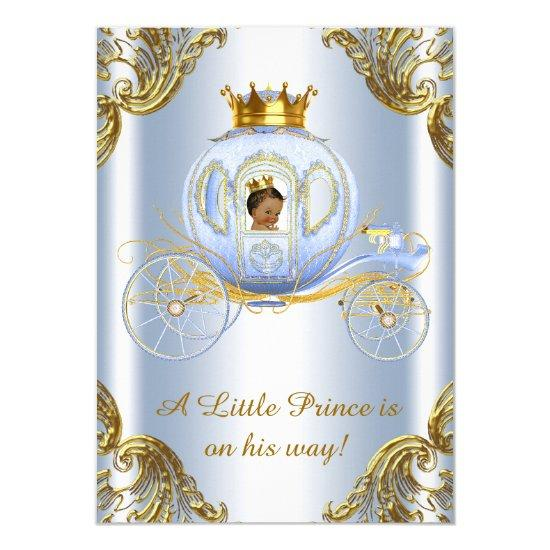 Ethnic Prince Royal Carriage Prince Baby Shower Card