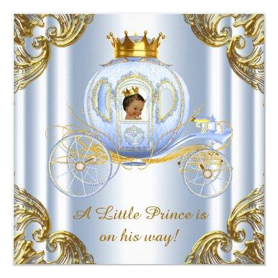 Ethnic Prince Royal Carriage Prince Baby Shower Invitations