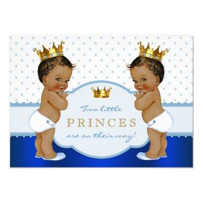 Ethnic Prince Twin Boy Invitations
