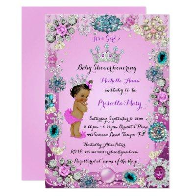 Ethnic Princess Baby Shower Invitation, Princess. Invitation