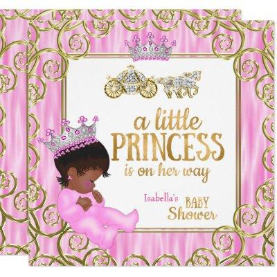 Ethnic Princess Baby Shower Pink Horse Carriage Invitation