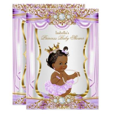 Ethnic Princess Purple Silk Gold Invitations