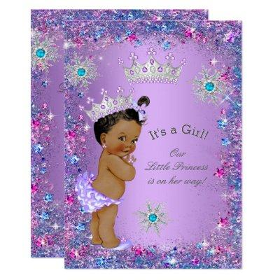 Ethnic Princess Purple Teal Blue Pink Invitations