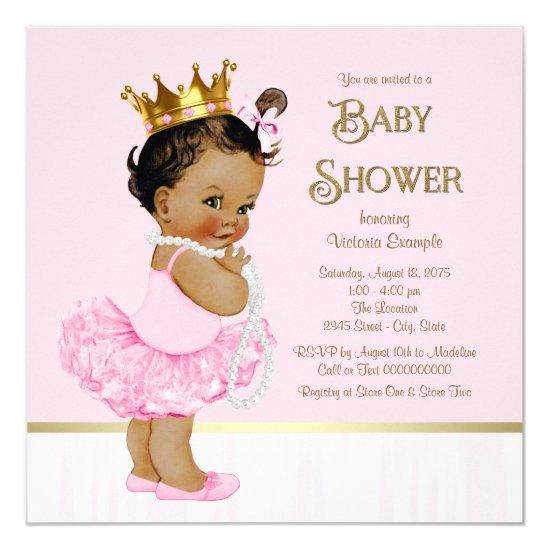 ballerina tutu princess baby shower baby shower invitations | baby, Baby shower invitations