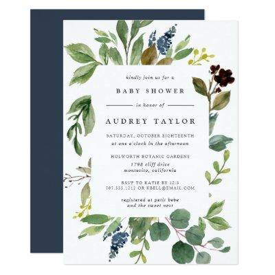 Eucalyptus Grove Baby Shower Invitation