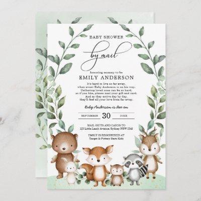Eucalyptus Woodland Baby Shower By Mail Quarantine Invitation