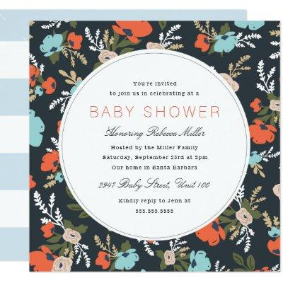 Evelyn Floral Baby Shower Invitation