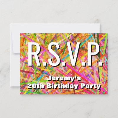 Eye Catching And Eyecatching R S V P Card