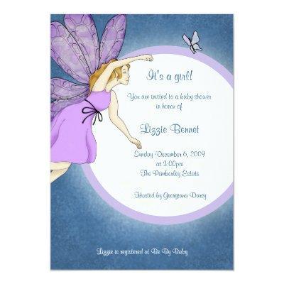 Fairy Baby Shower invitation