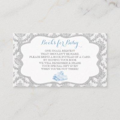 Fairytale Once Upon a Time Book Request Grey Blue Enclosure Card