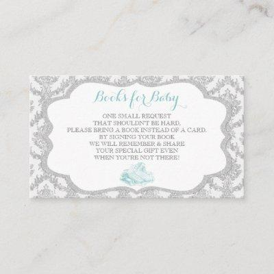 Fairytale Once Upon a Time Book Request Grey Mint Enclosure Card