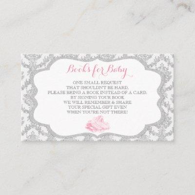 Fairytale Once Upon a Time Book Request Grey Pink Enclosure Card