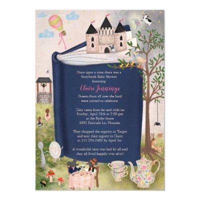 Fairytale Storybook Nursery Rhyme Baby Shower Invitation