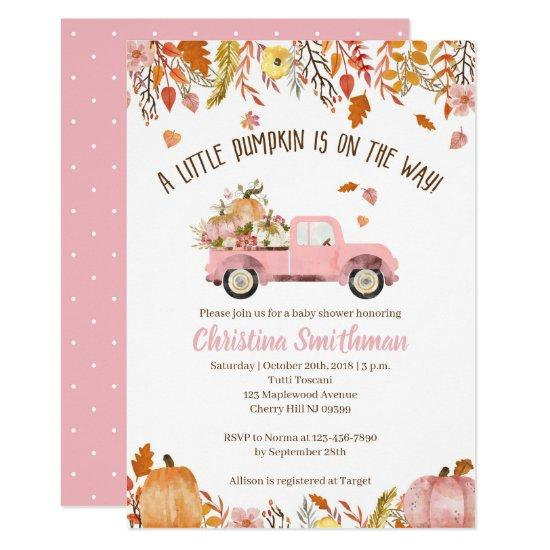 Fall Baby Shower Invitations For A Girl