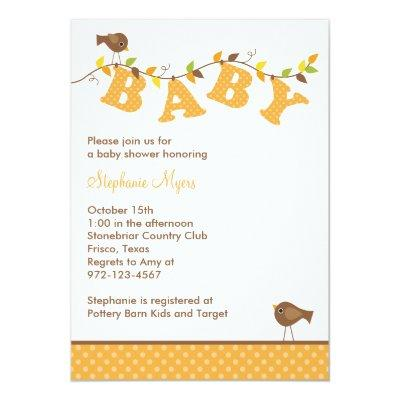 Fall Baby Vine Invitations