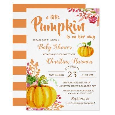 Fall Floral Little Pumpkin