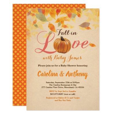 Fall in love pumpkin  rustic