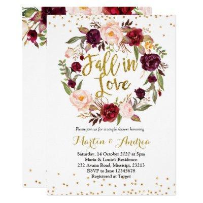 fall in love shower Invitations