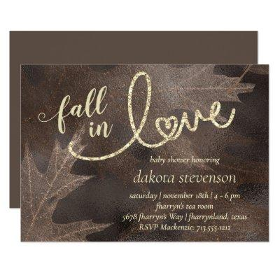 Fall in Love with Autumn | Elegant Baby Shower Invitation