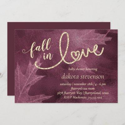 Fall in Love with Autumn   Mulberry Baby Shower Invitation