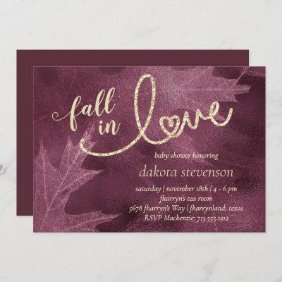 Fall in Love with Autumn | Mulberry Baby Shower Invitation